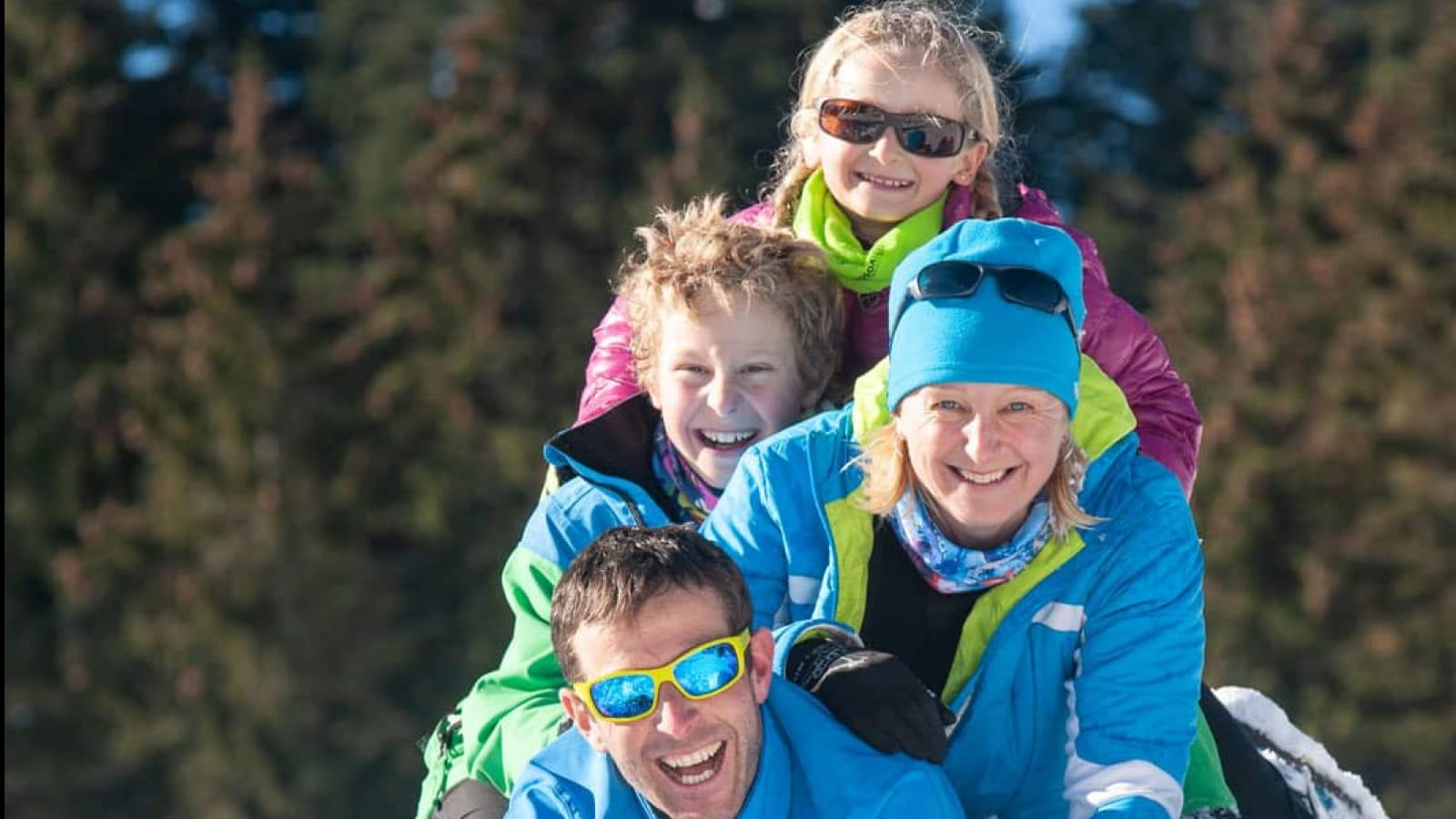 Neige en famille dans le massif des Vosges