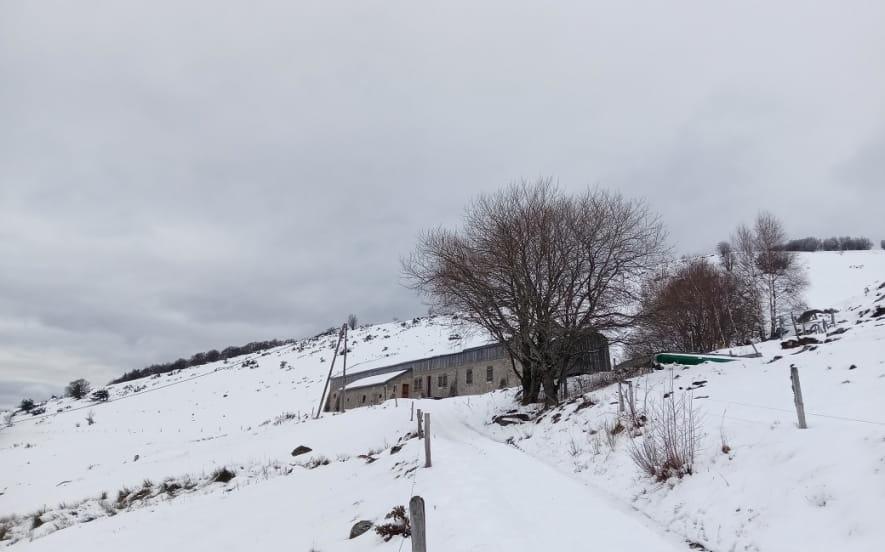 Sortie e-VTT hivernale (pneus spécial neige)