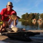 Pêche en etang aux guidons