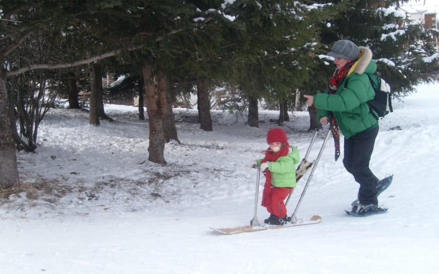 GLISSE ORIGINALE AVEC BABYSNOW, BABYLUGE ET SNOWKICK