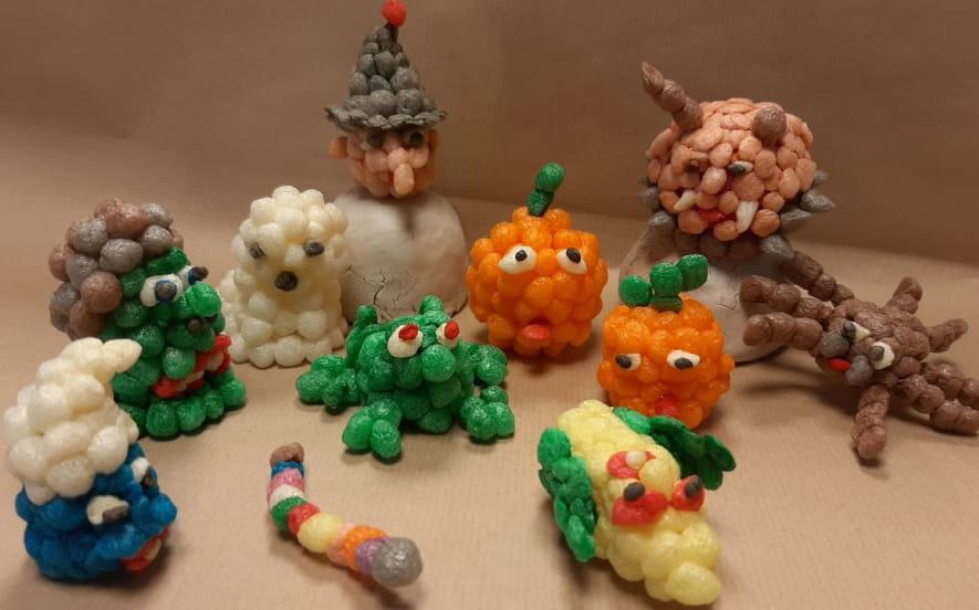 Atelier créatif : Fabrication d'un sujet « Halloween » en billes de flocons de maïs