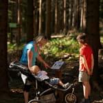 Circuit poussettes : sentier de découverte d'une forêt