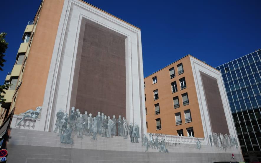 Le mur peint d'ernest pignon ernest
