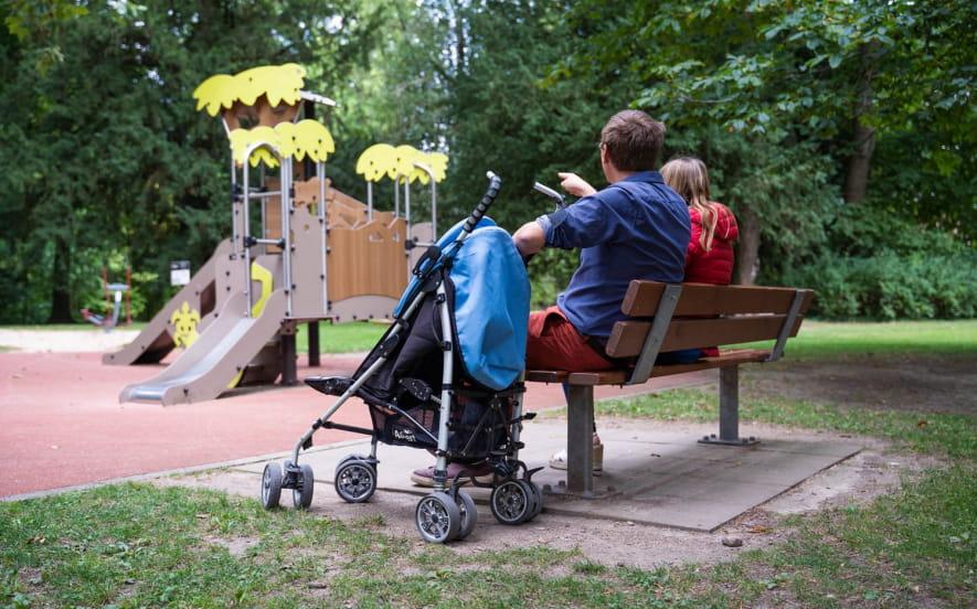 Circuit poussettes : Dans le parc de la Fecht !